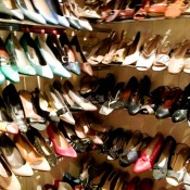 Vintage shoes at One Of A Kind in London. Photo by alphacityguides.