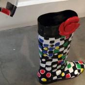Rain boots at Tsumori Chisato in Paris. Photo by alphacityguides.