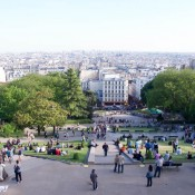 Veiw from the Basilica of the Sacré Coeur in Paris. Photo by alphacityguides.