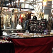 Jewelry and accessories at Old Spitalfields Market in London. Photo by alphacityguides.