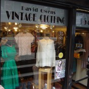 Store front at David Owens Vintage Clothing in New York. Photo by alphacityguides.