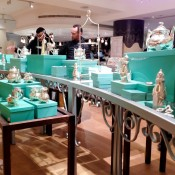 Tea sets and accessories at Fortnum and Mason in London. Photo by alphacityguides.