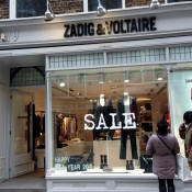 Store front at Zadig & Voltaire in London. Photo by alphacityguides.