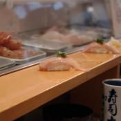 Hirame at Sushi Dai in Tokyo. Photo by alphacityguides.