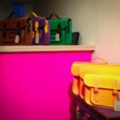 Accessory display at The Cambridge Satchel Company in Covent Garden London. Photo by alphacityguides.