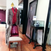 Made to measure suit display inside Scabal on Savile Row in London. Photo by alphacityguides.