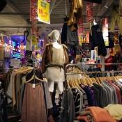 Womenswear at Spinns Harajuku in Tokyo.