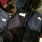 Selvage denim display at Wolverine in New York. Photo by alphacityguides.
