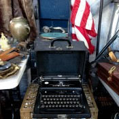 Vintage typewriter at Hell's Kitchen Market in New York. Photo by alphacityguides.