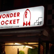 Outside of Wonder Rocket Harajuku in Tokyo.