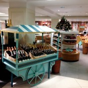 Wine and champagne room at Fortnum and Mason in London. Photo by alphacityguides.