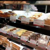 Pastry counter at Segafredo in Tokyo. Photo by alphacityguides.