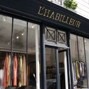 Store front at L'Habilleur in Paris. Photo by alphacityguides.