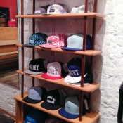 Hat display inside Topman General Store in London. Photo by alphacityguides.