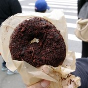Chocoalte blackout doughnut from Doughnut Plant in New York. Photo by alphacityguides.