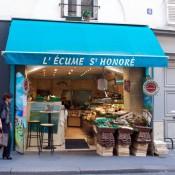 Store front at L'Ecume Saint-Honoré in Paris. Photo by alphacityguides.