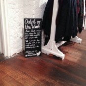 Signage inside Topman General Store in London. Photo by alphacityguides.
