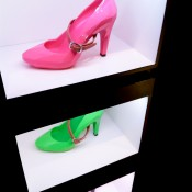 Neon Lo Res Pump at United Nude in New York. Photo by alphacityguides.