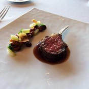 "Elysian Fields Farm's ""Carré d'agneau"" at Per Se in New York. Photo by alphacityguides."