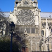 Southern facade of the Notre Dame Cathedral in Paris. Photo by alphacityguides.