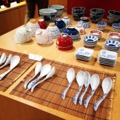 Traditional Japanese ceramic and china at the Oriental Bazaar in Tokyo. Photo by alphacityguides.