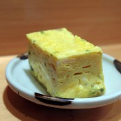 Tamago at Sushi Dai in Tokyo. Photo by alphacityguides.