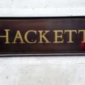 Hackett sign in London. Photo by alphacityguides.