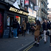 Brick Lane Cofffe and Brick Lane Beigel Bake in London. Photo by alphacityguides.