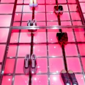 Rotating sneakers at A Bathing Ape in Tokyo. Photo by alphacityguides.
