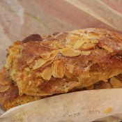 Almond croissant by Gallet in Paris. Photo by alphacityguides.