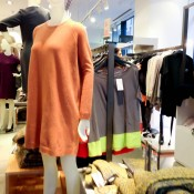 Orange knit dress at COS in London. Photo by alphacityguides.