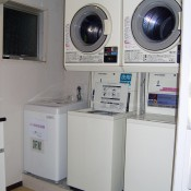 On-site laundry at B Akasaka in Tokyo. Photo by alphacityguides.