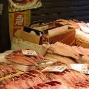 Fish vendor at Tsukiji Market in Tokyo. Photo by alphacityguides.