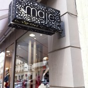 Store front at Maje in Paris. Photo by alphacityguides.