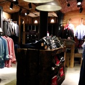 Men's denim and shirts at Superdry in London. Photo by alphacityguides.