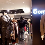 Men's and women's fashion at 5cm at Seibu in Hong Kong. Photo by alphacityguides.