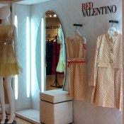 Red Valentino display inside Printemps in Paris. Photo by alphacityguides.