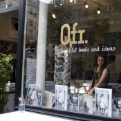 Store front at Ofr in Paris. Photo by alphacityguides.