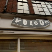 Store front at Volcom in London. Photo by alphacityguides.