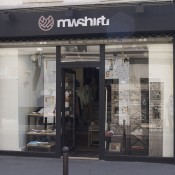 Store front at MWShift in Paris. Photo by alphacityguides.