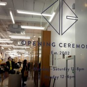 Store front at Opening Ceremony in London. Photo by alphacityguides.