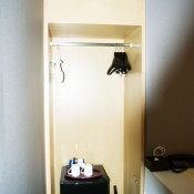 Closet and safe at Agora Place Hotel in Tokyo. Photo by alphacityguides.
