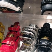 Sneaker display inside Kicks Lab in Tokyo. Photo by alphacityguides.