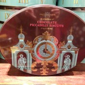Fortnum and Mason biscuits tin in London. Photo by alphacityguides.