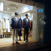 Window display at Comme Ça Stage in Tokyo. Photo by alphacityguides.