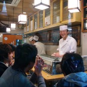 Inside Sushi Dai in Tokyo. Photo by alphacityguides.