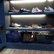 Men sneakers and bags at Steven Alan in New York. Photo by alphacityguides.
