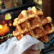 Waffle at Manneken in Tokyo. Photo by alphacityguides.