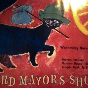 Lord Mayor's Show poster at the Museum of London. Photo by alphacityguides.