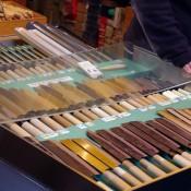 Knife vendor at Tsukiji Market in Tokyo. Photo by alphacityguides.